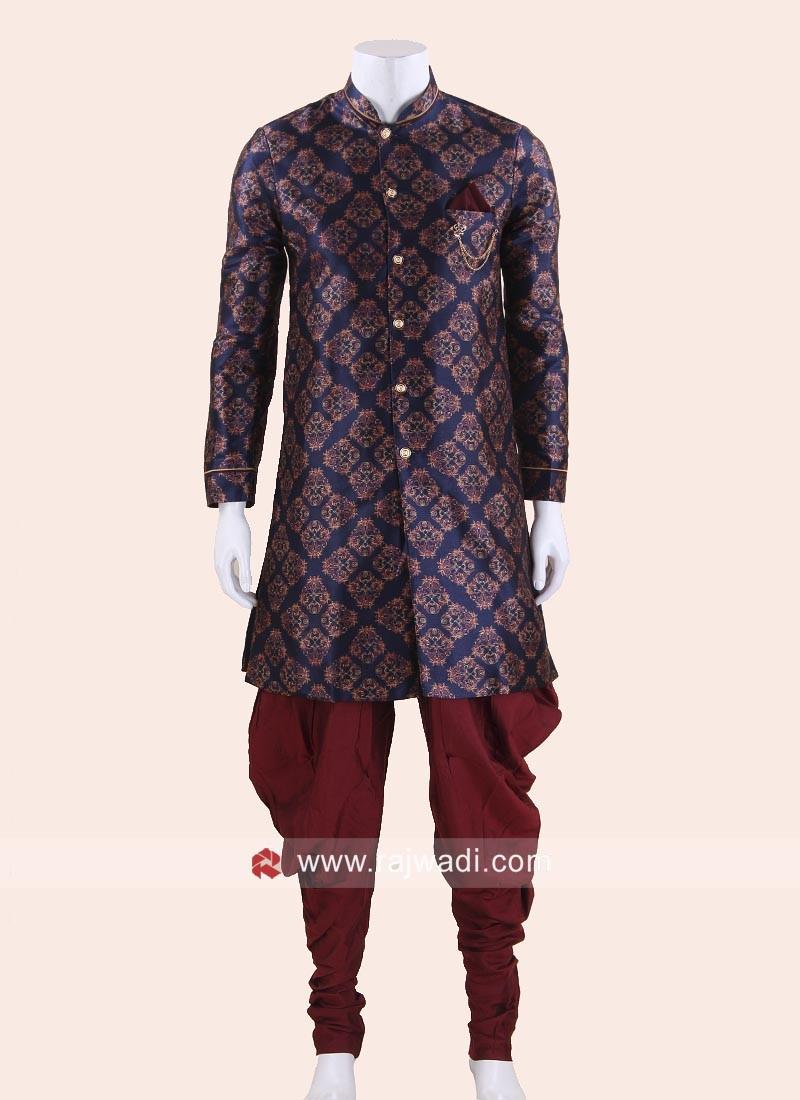 Stylish Blue Indo Western For Men