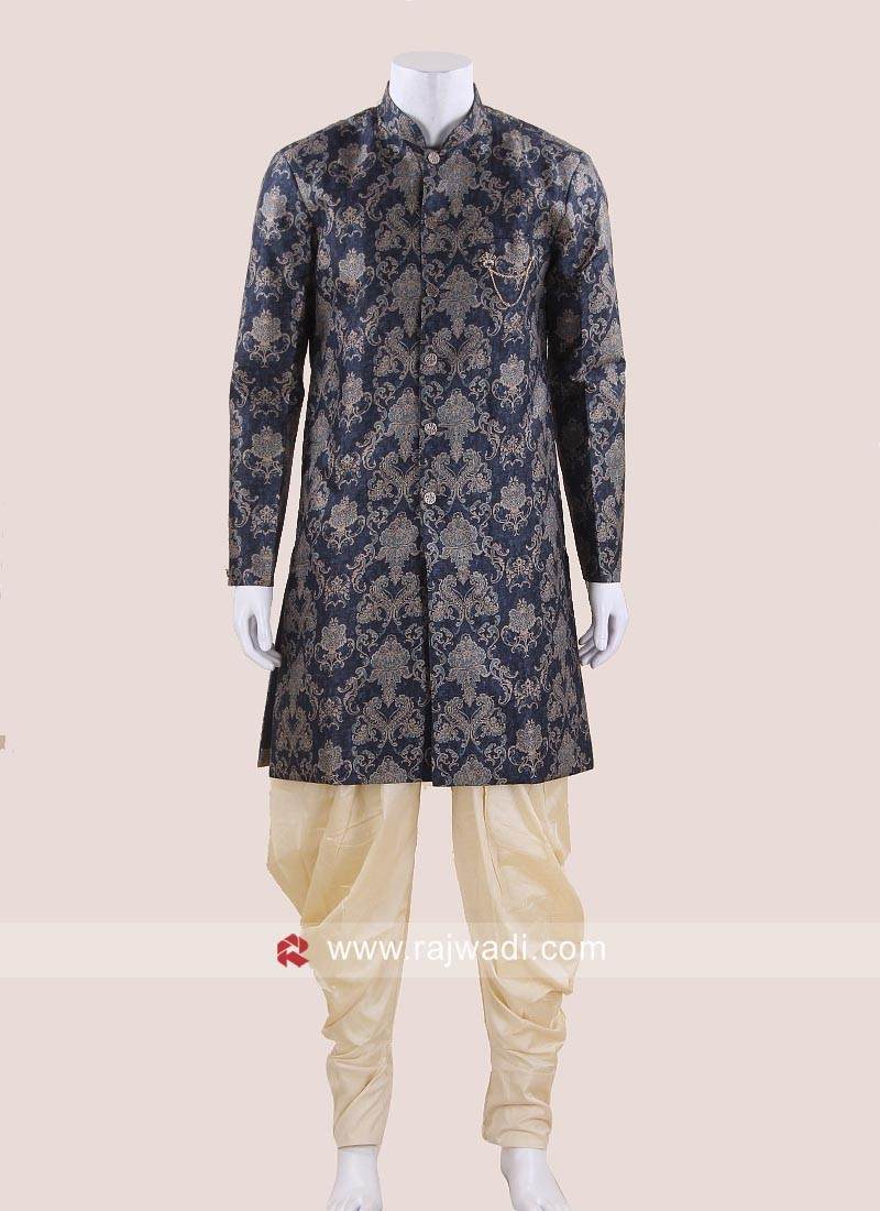Stylish Blue Indo Western For Wedding