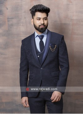 Stylish Blue Party Wear Suit