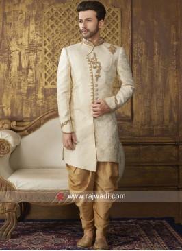 Stylish Brocade Silk Fabric Indo Western