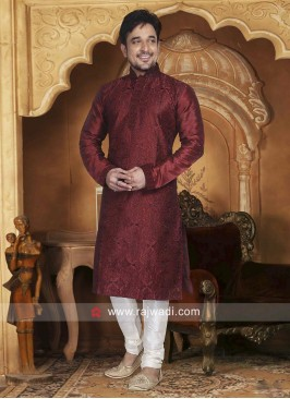 Stylish Jute Fabric Kurta Set