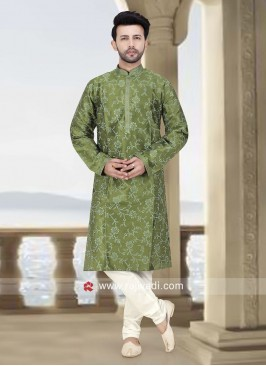 Stylish Art Silk Kurta Set