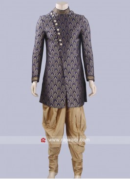 Stylish Brocade Silk Patiala Suit