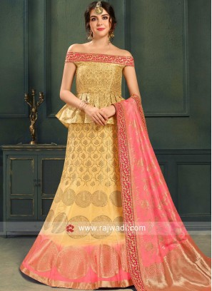 Stylish Brocade Weaved Lehenga Choli