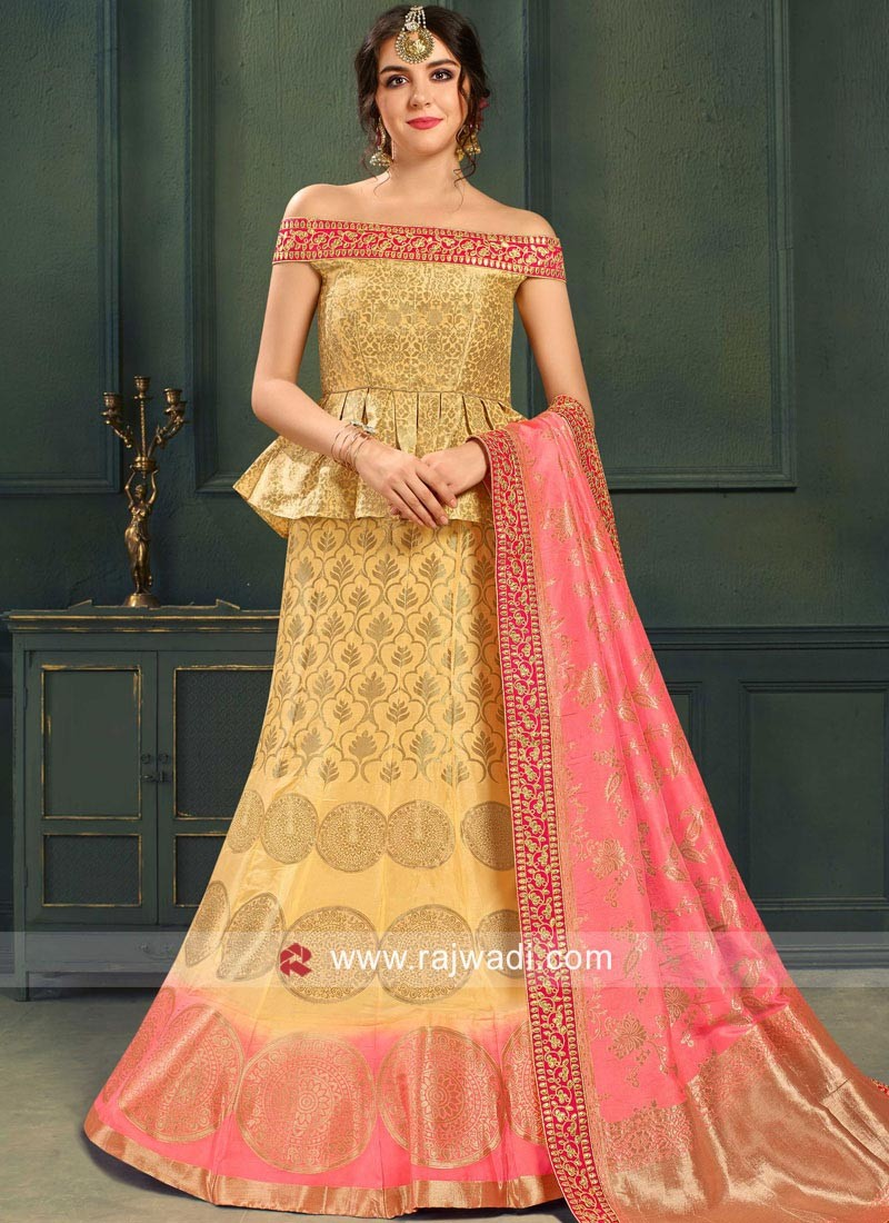 c720d7580 Stylish Brocade Weaved Lehenga Choli. Hover to zoom