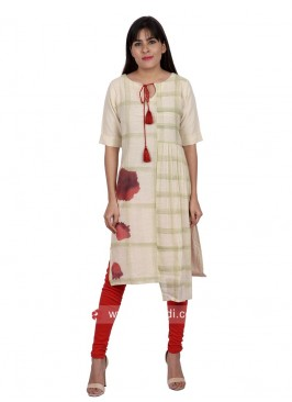 Stylish Casual Tunic with Tie Up