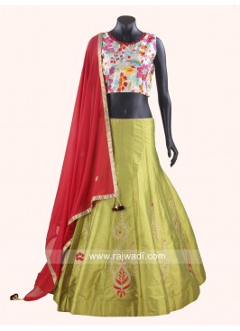 Stylish Chaniya Choli with Contrast  Dupatta