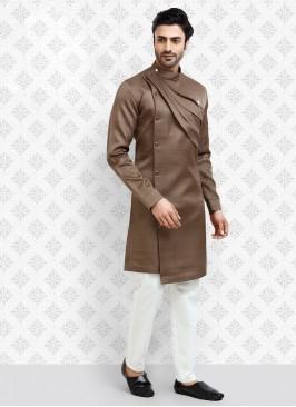 Stylish Coffee Color Kurta Pajama