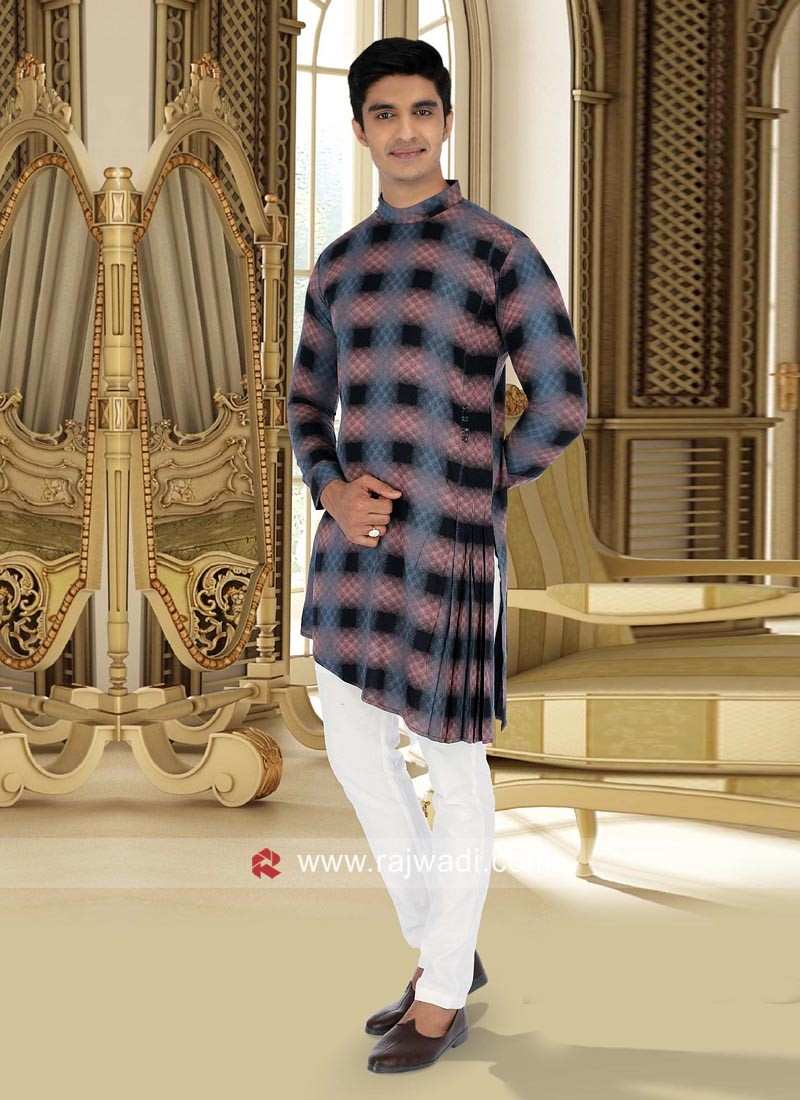 Stylish Cotton Fabric Pathani Set