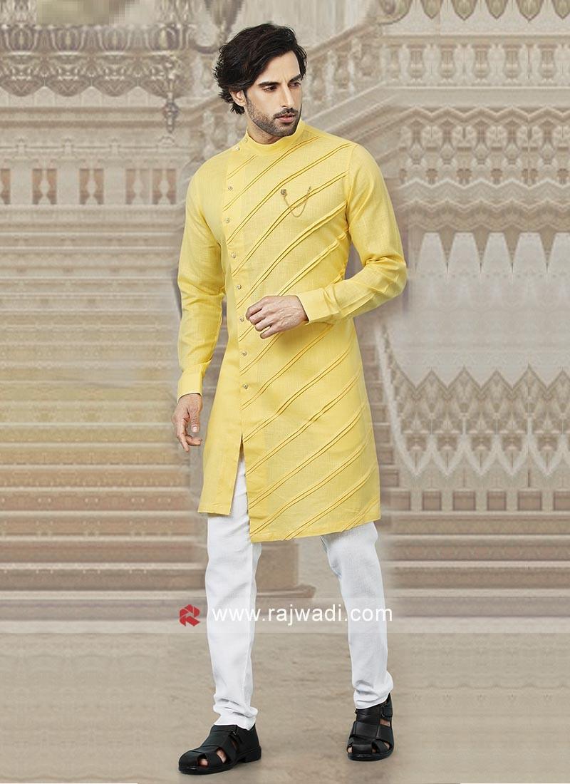 Stylish Yellow Kurta Pajama
