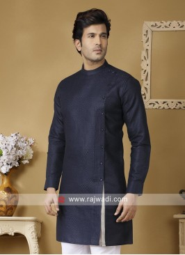 Stylish Linen Navy Kurta