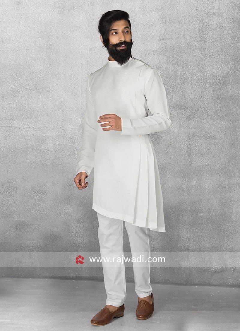 Stylish Satin Fabric Pathani Suit