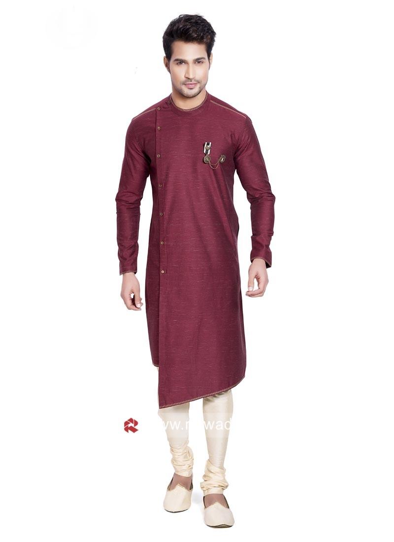 Stylish Cotton Fabric Pathani Suit