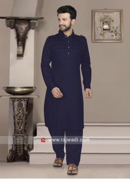 Stylish Cotton Silk Pathani Suit