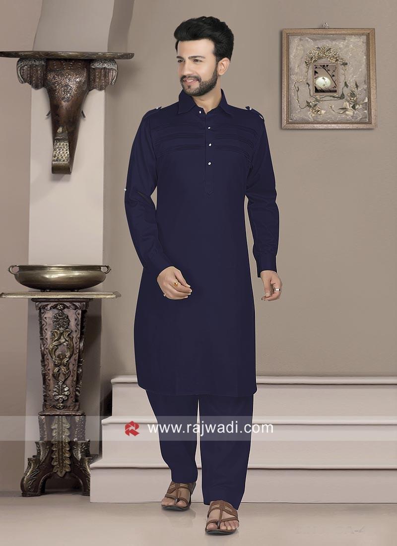 Stylish Cotton Silk Pathani Suit