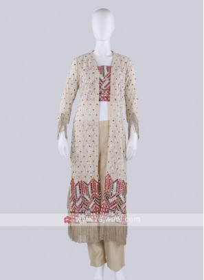 Stylish Cream Color Palazzo Suit
