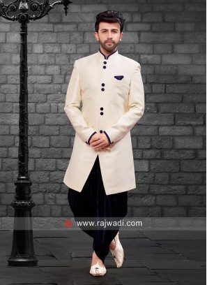 Stylish Cream Indo Western For Mens