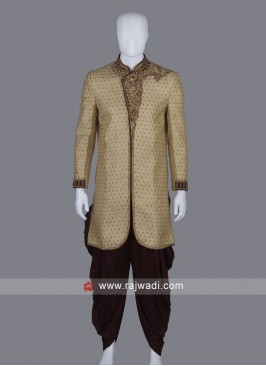 Stylish Cream Sherwani