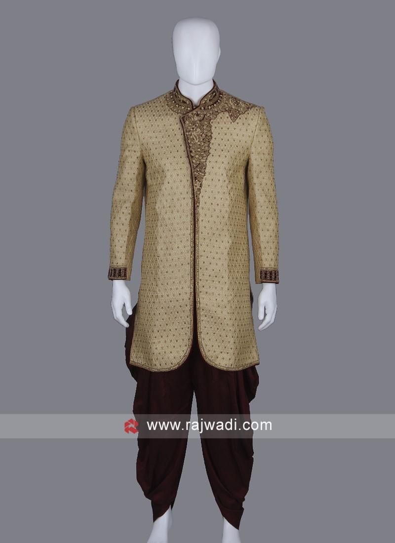 Stylish Cream Sherwani