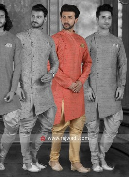 Stylish Orange Indo Western For Wedding