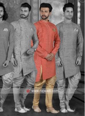 Stylish Orange Indo Western For Wedding