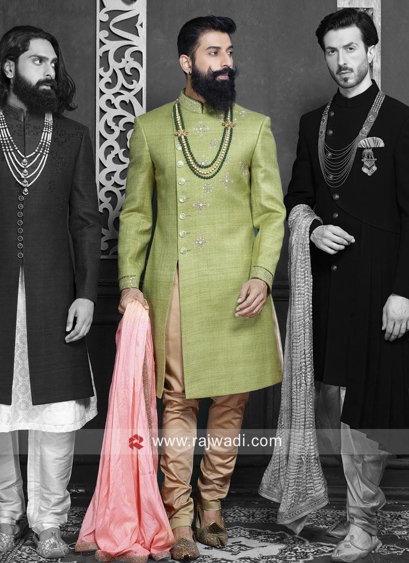 Pista Green Indo Western For Wedding