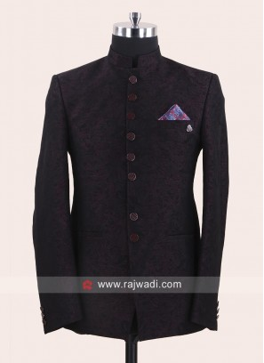 Stylish Dark Purple Jodhpuri Suit