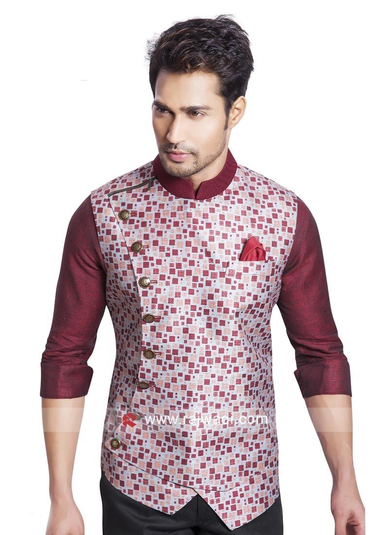 Stylish Brocade Silk Fabric Koti