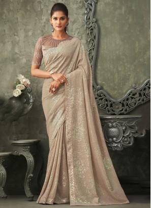 Stylish Georgette Bollywood Saree
