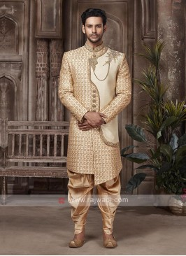 Stylish Golden Colour Sherwani