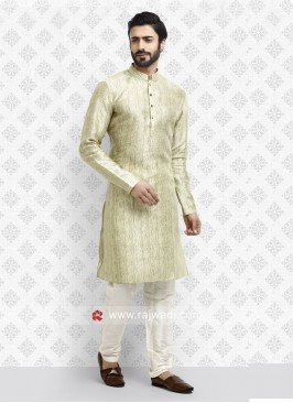 Stylish Light Green color Kurta Pajama