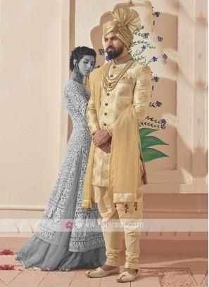 Stylish Golden Indo-western