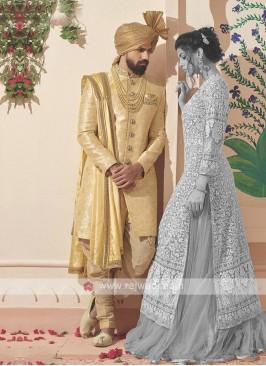 Stylish Golden Sherwani