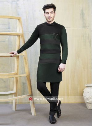 Stylish Green and Black Indo Western