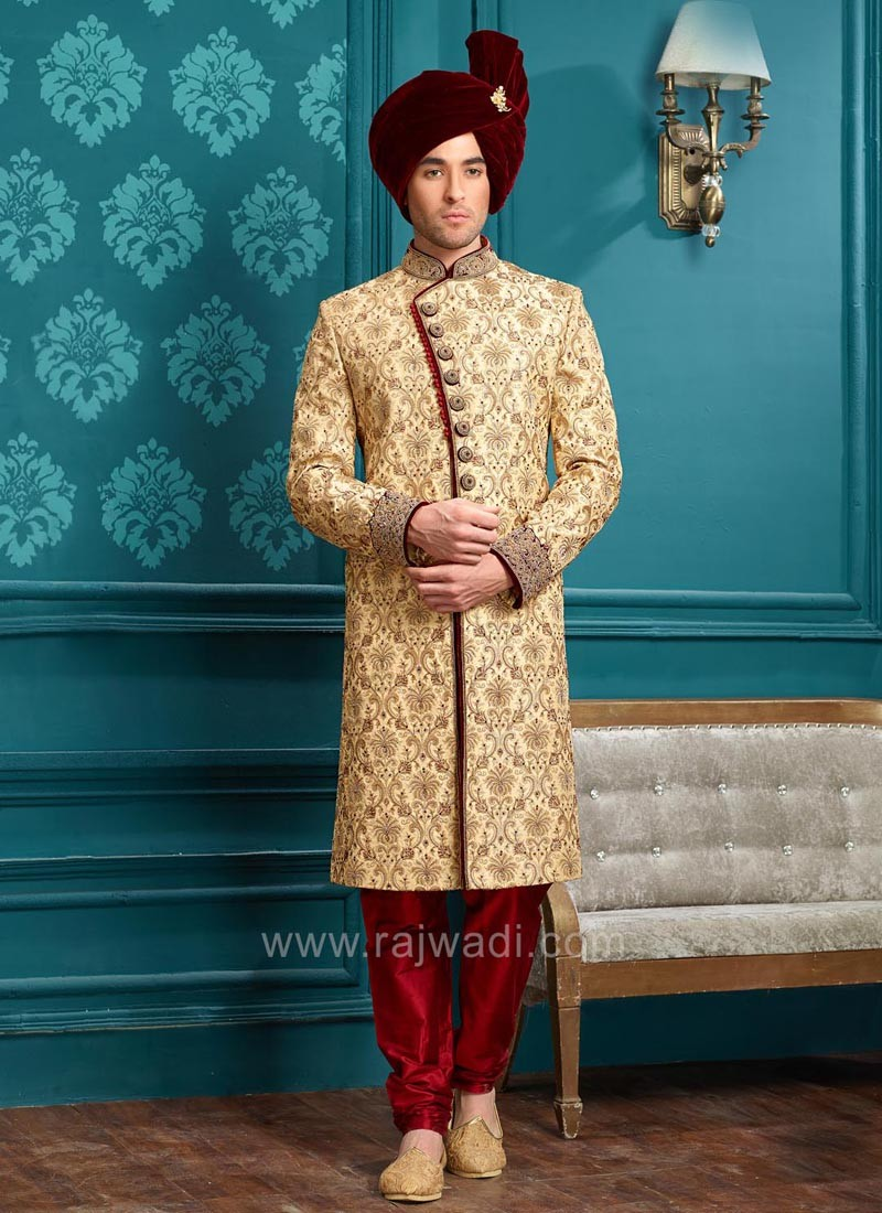 Stylish Golden Wedding Indo Western