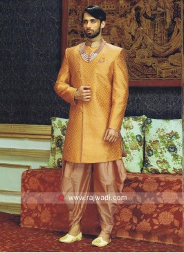 Stylish Golden Yellow Indo Western