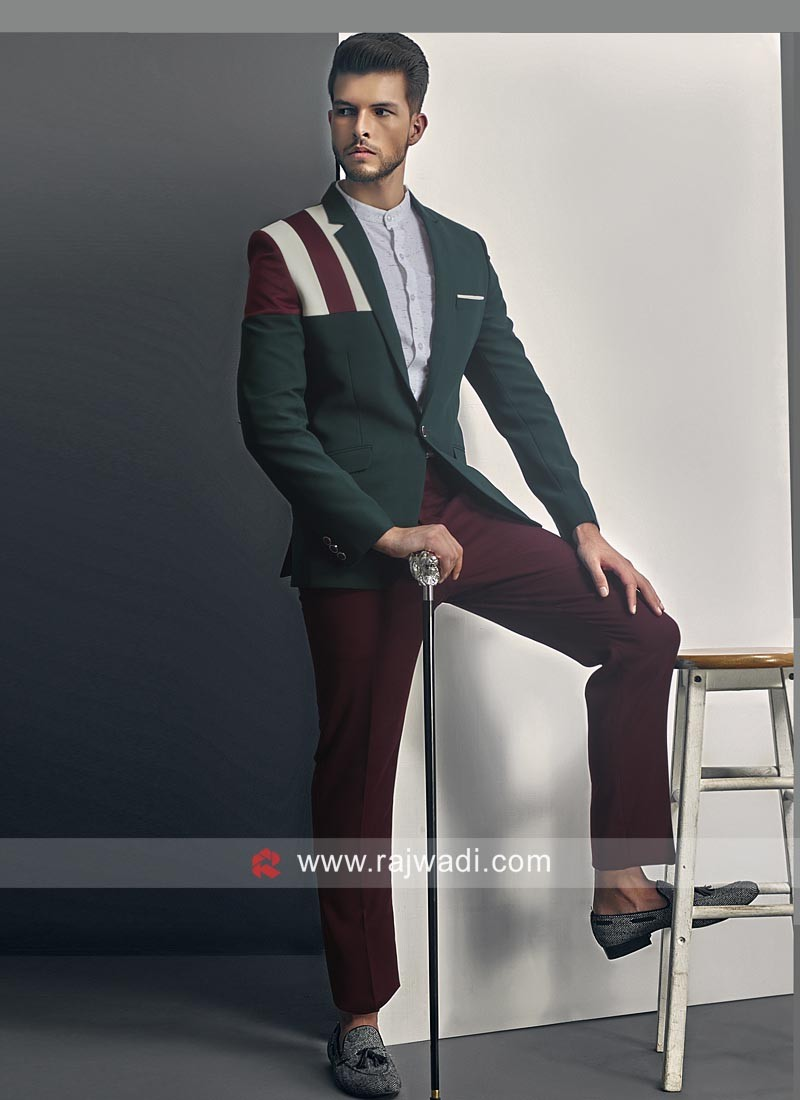 Stylish Green Blazer For Party