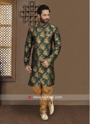 Stylish Green Indo Western