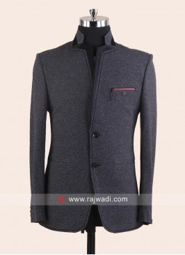 Stylish Grey Blazer For Wedding
