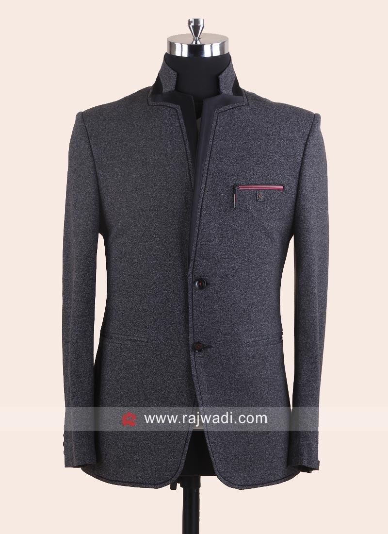 Stylish Grey Blazer For Wedding