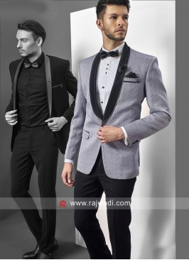 Stylish Silver Color Suit For Party