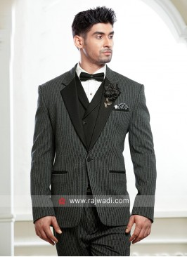 Stylish Grey Color Suit For Party