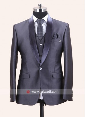 Stylish Grey Imported Suit For Wedding