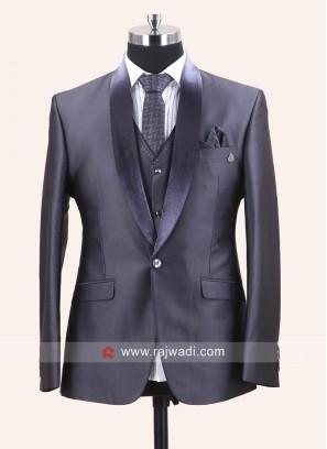 Stylish Grey Imported Suit For Wedding