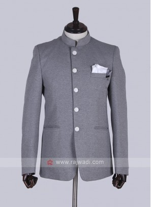 Stylish Grey Jodhpuri Suit