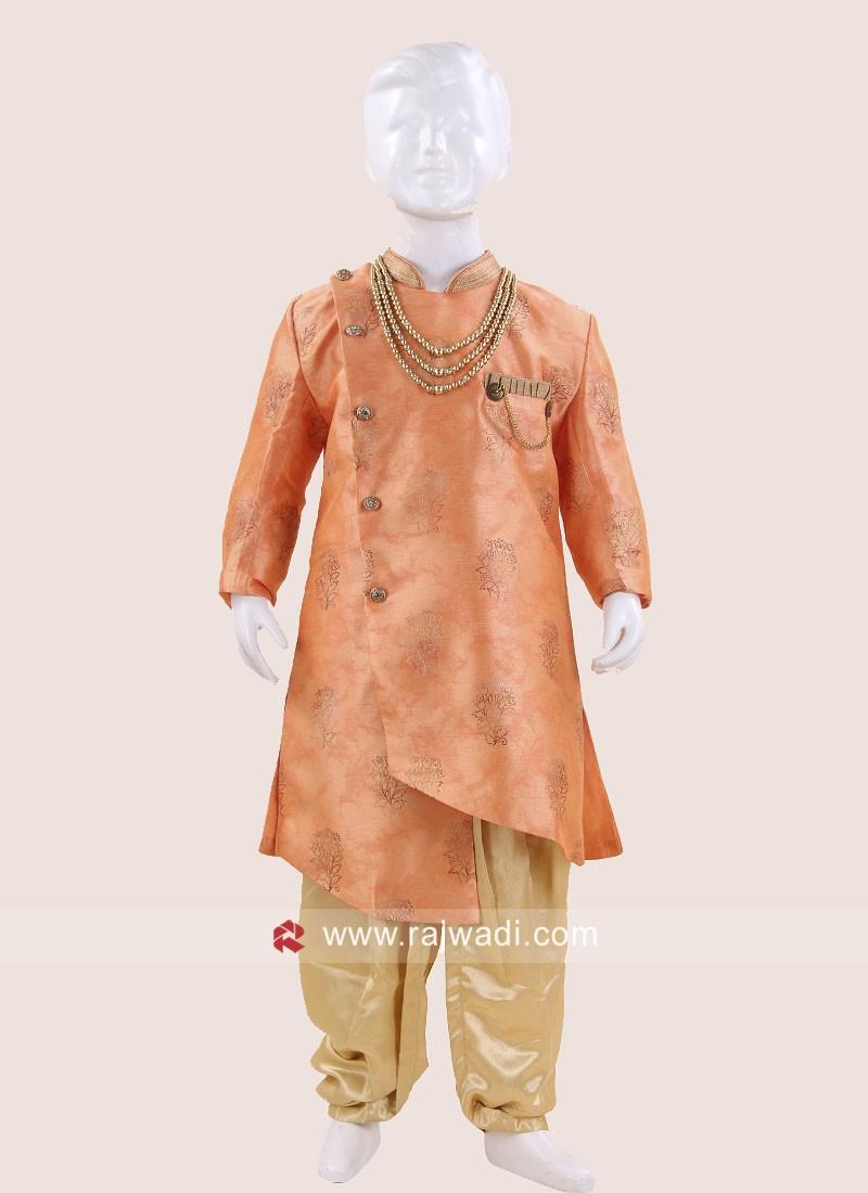 Stylish Art Silk Indo Western For Wedding