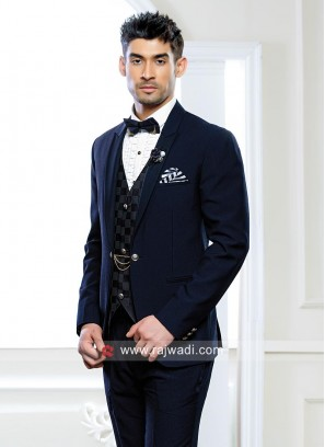 Stylish Imprted Fabric Blue Suit