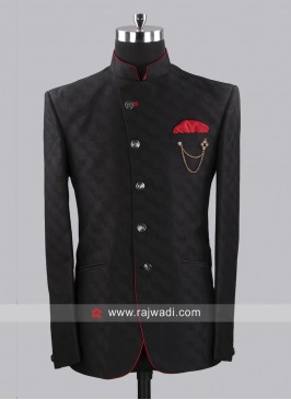 Stylish Jodhpuri Set With Fancy Broach