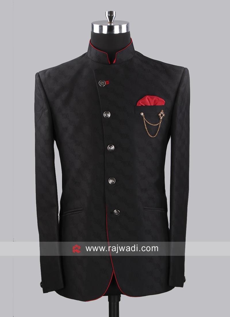Stylish Jodhpuri Set With Fancy Broach