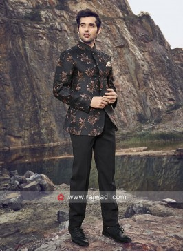 Stylish Jodhpuri Suit in Black